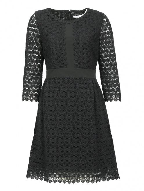 Платье-мини из хлопка с рукавами 3/4 - Общий вид