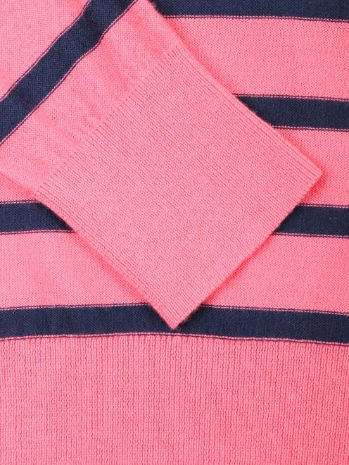 Джемпер из шерсти и хлопка с узором полоска - Деталь