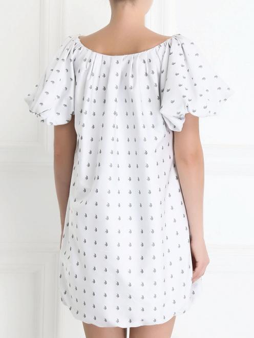 Платье-мини с узором - Модель Верх-Низ1