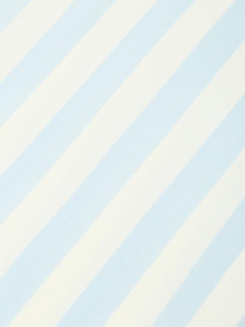 """Юбка-миди из шелка с узором """"полоска"""" и кружевной отделкой - Деталь"""