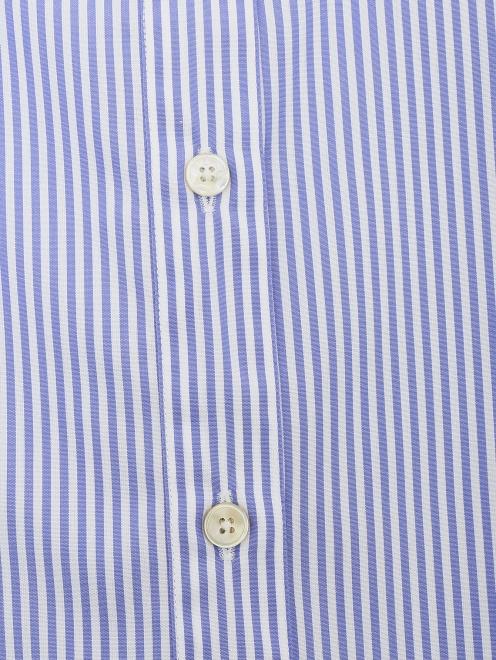 Рубашка из хлопка с узором полоска - Деталь