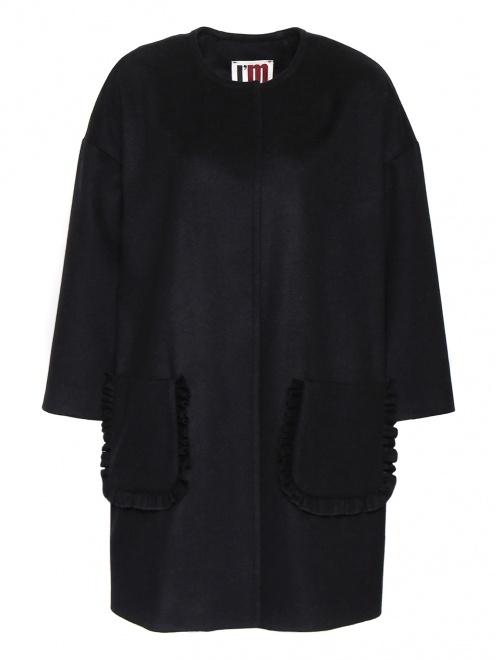 Однобортное пальто из шерсти - Общий вид