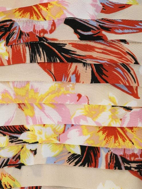 Блуза из шелка с цветочным узором - Деталь