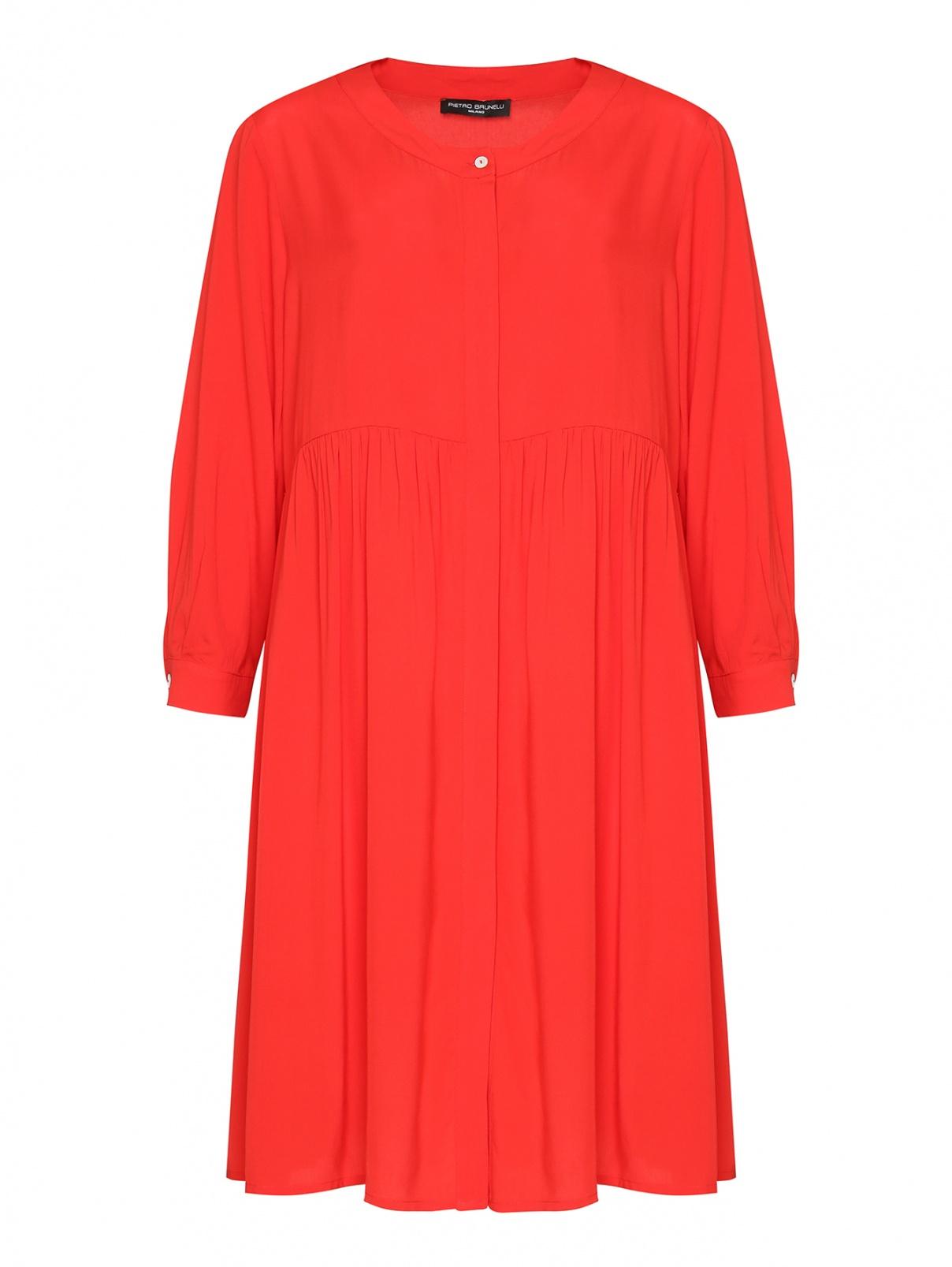 Платье свободного кроя на пуговицах Pietro Brunelli  –  Общий вид