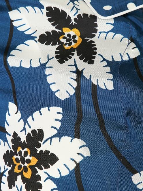 Блуза удлиненная с цветочным узором - Деталь