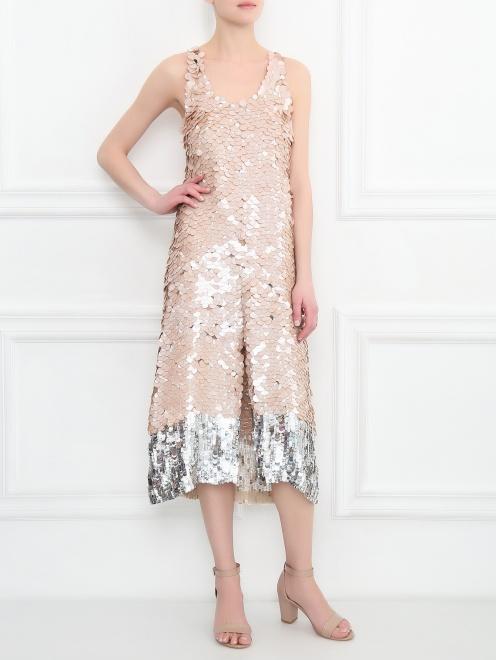 Платье декорированное пайетками - Общий вид
