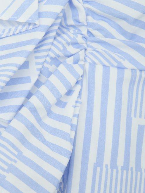 Платье из хлопка с отделкой оборкой - Деталь1