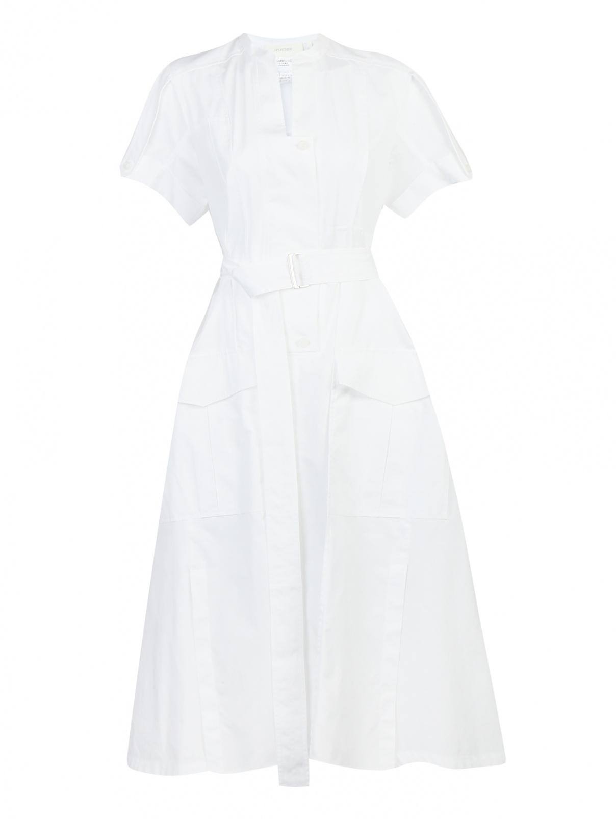 Платье-миди из хлопка с накладными карманами Sportmax  –  Общий вид