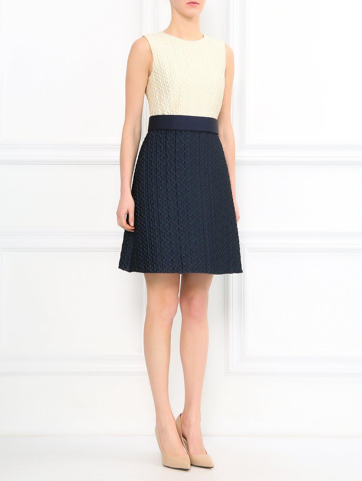Платье-мини с поясом Pianoforte  –  Модель Общий вид