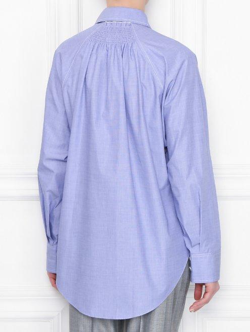 Блуза свободного кроя из хлопка - МодельВерхНиз1