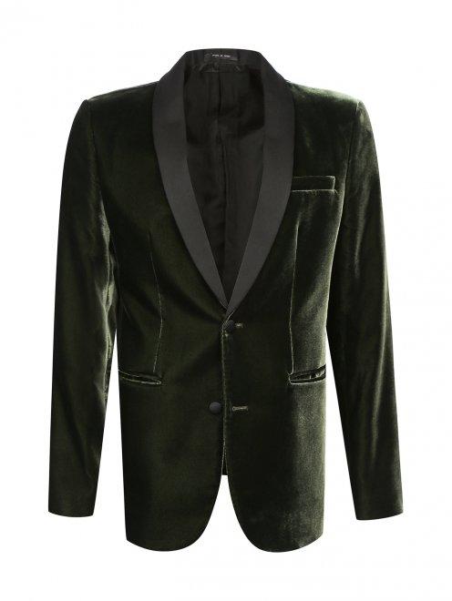 Однобортный вельветовый пиджак - Общий вид