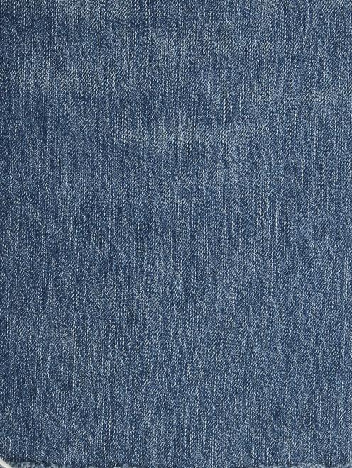 Джинсы укороченные с вышивкой - Деталь2