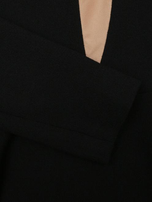 Платье из шерсти под пояс - Деталь1