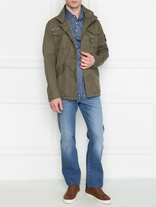 Куртка из хлопка с нашивками - Общий вид