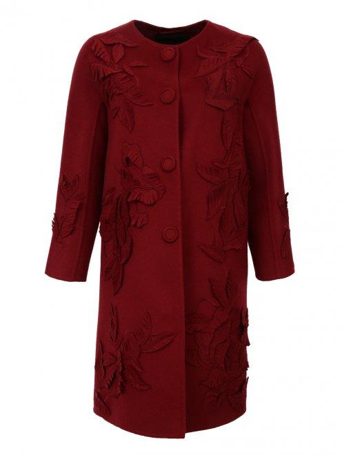 Пальто из шерсти с декором - Общий вид