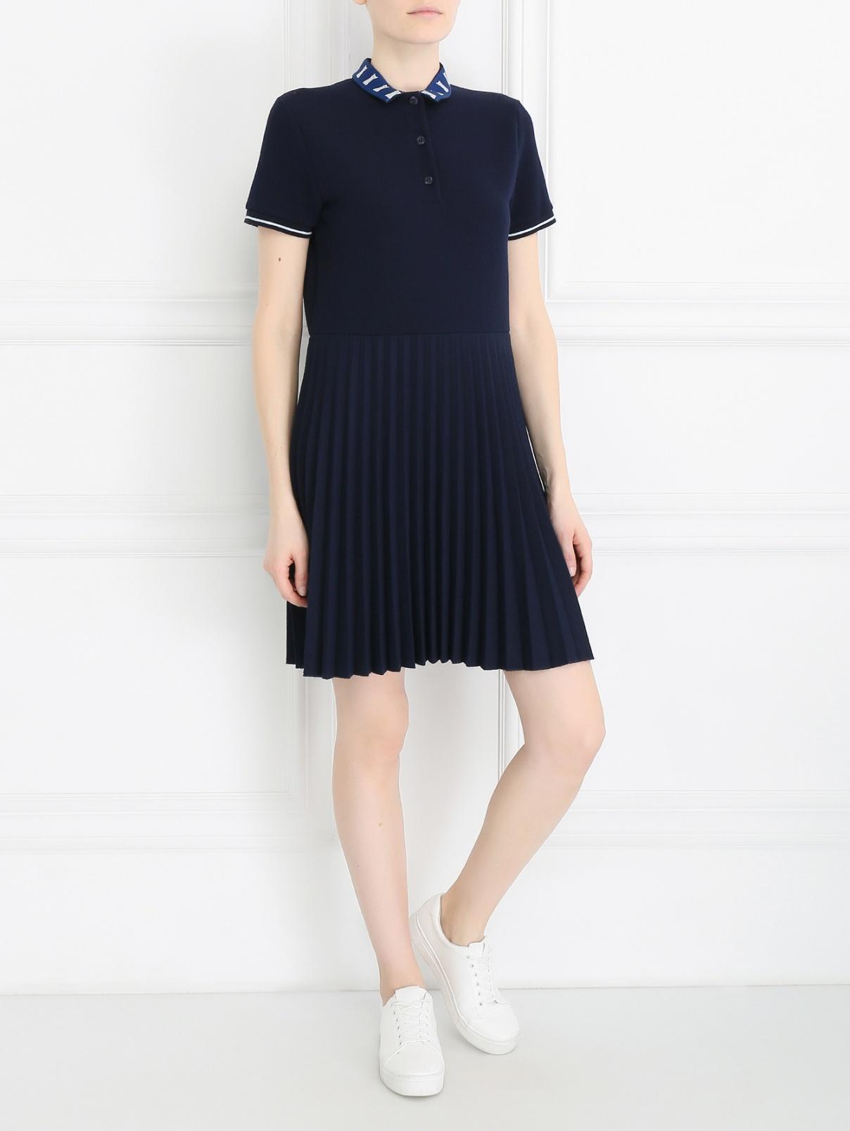 Платье с узором и контрастной отделкой Paul&Joe Sister  –  Модель Общий вид
