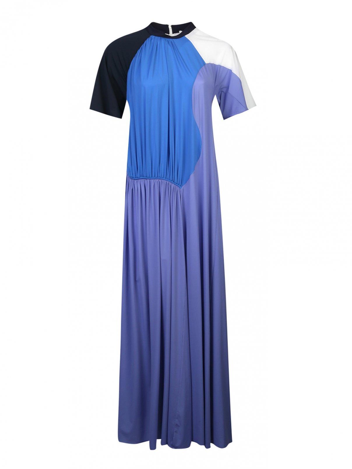 Платье макси из трикотажа в стиле колорблок Sportmax  –  Общий вид