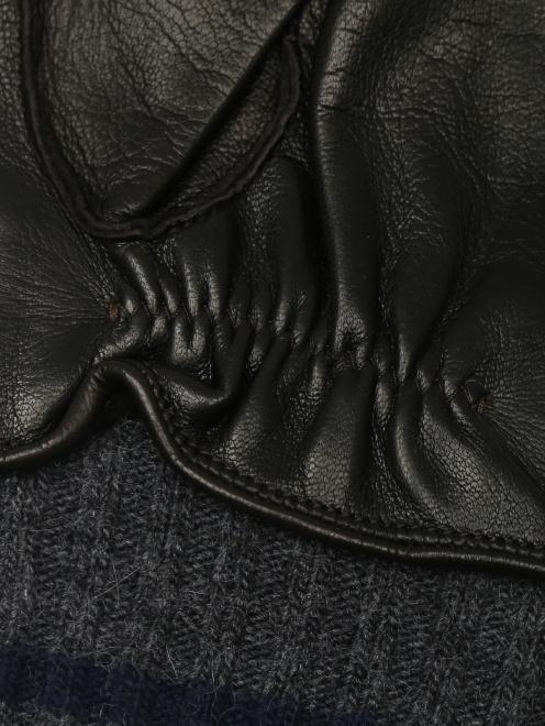 Перчатки кожаные с вязаной подкладкой - Деталь