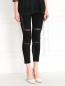 Трикотажные брюки с прозрачными вставками Kira Plastinina  –  Модель Верх-Низ