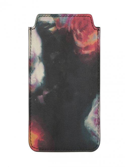 Чехол для IPhone 4 из кожи с цветочным узором - Обтравка1