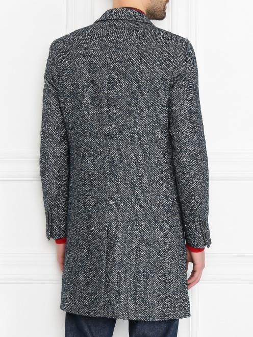 Пальто из смешанной шерсти с узором  - МодельВерхНиз1