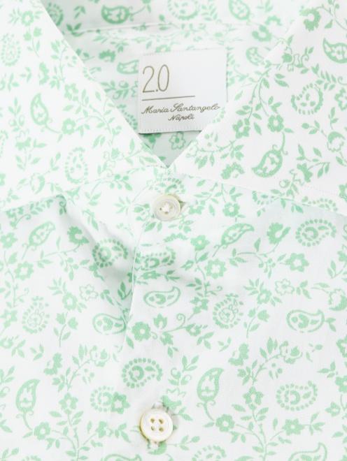 Рубашка из хлопка с цветочным узором - Деталь