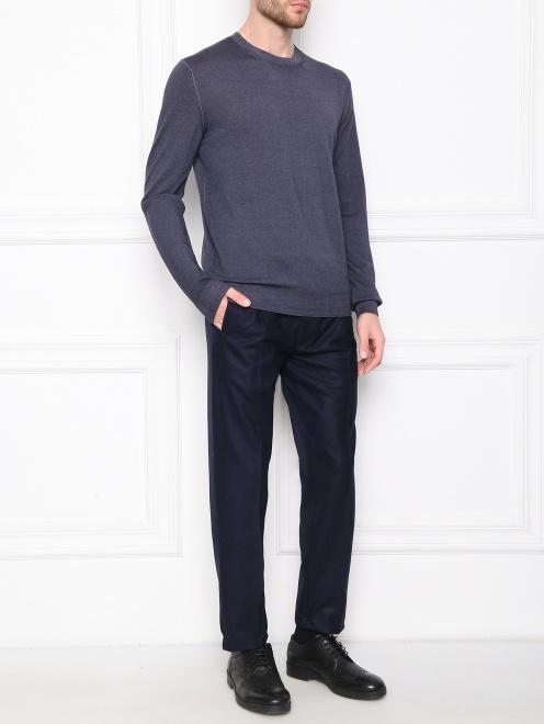 Джемпер из шерсти с круглым вырезом  - Общий вид