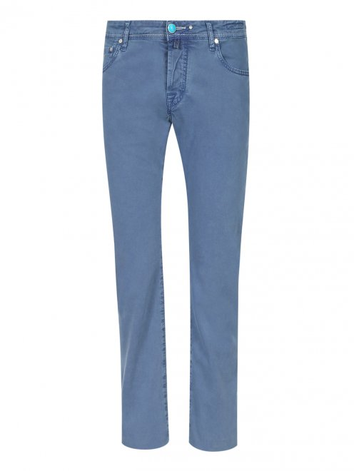Брюки джинсового кроя из хлопка - Общий вид