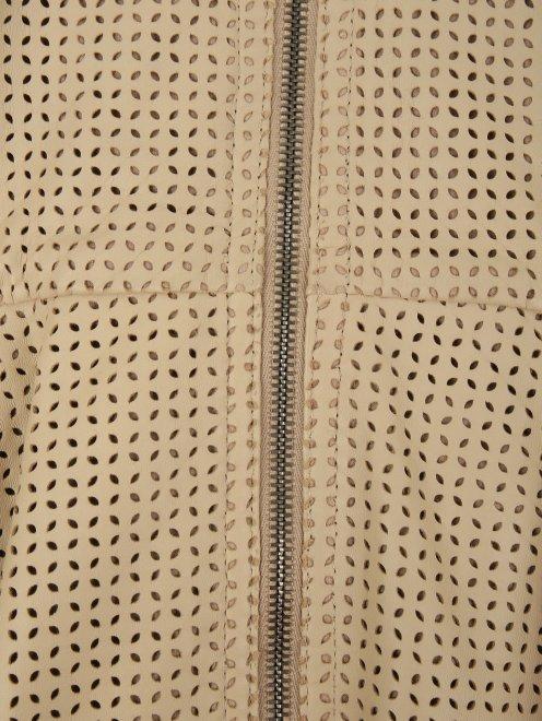 Куртка из кожи с перфорацией - Деталь