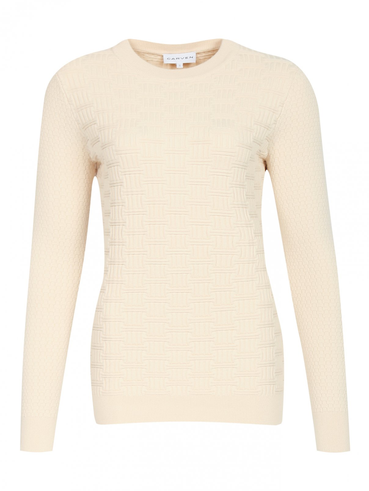 Джемпер из хлопка и шерсти фактурной вязки Carven  –  Общий вид