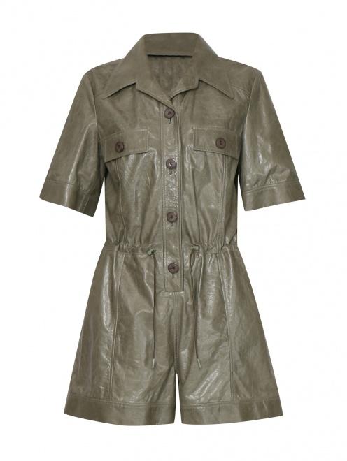 Комбинезон кожаный с тиснением  - Общий вид
