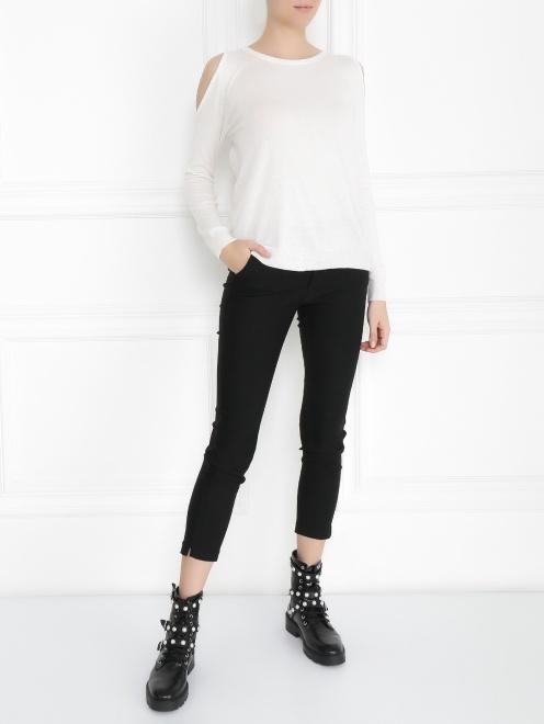 Джемпер из смесовой шерсти с длинным рукавом - Общий вид