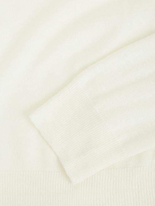 Джемпер из смесовой шерсти с длинным рукавом - Деталь