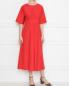 Платье из хлопка со сборками на талии Max Mara  –  МодельОбщийВид