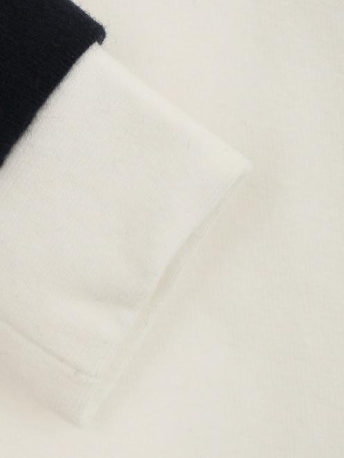 Комбинезон из хлопка с контрастными вставками и вышивкой - Деталь1