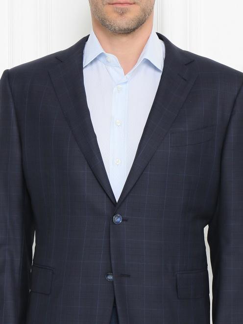Пиджак из шерсти с узором - МодельОбщийВид1