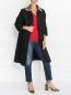 Пальто из фактурной ткани с принтом на спине Maison Margiela  –  Модель Общий вид