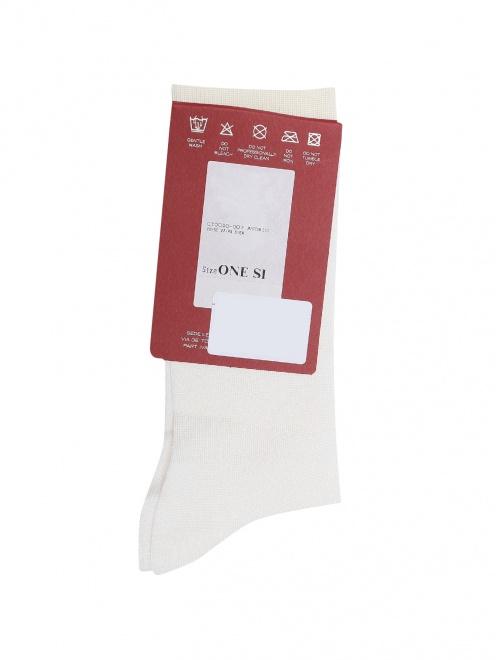 Носки шелковые с логотипом  - Общий вид