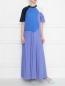Платье макси из трикотажа в стиле колорблок Sportmax  –  МодельОбщийВид
