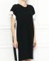 Платье из хлопка и шелка с контрастной отделкой MRZ  –  МодельВерхНиз