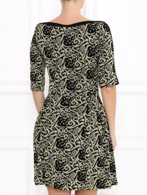 Платье из фактурной ткани с узором  - Модель Верх-Низ1
