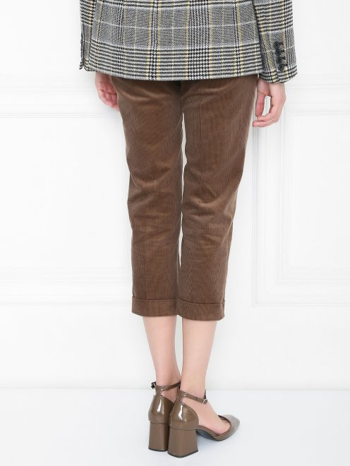 Вельветовые брюки из хлопка прямого кроя - МодельВерхНиз1