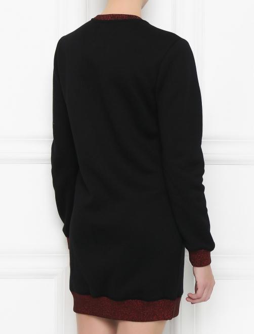 Платье из хлопка с вышивкой - Модель Верх-Низ1