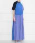 Платье макси из трикотажа в стиле колорблок Sportmax  –  МодельВерхНиз