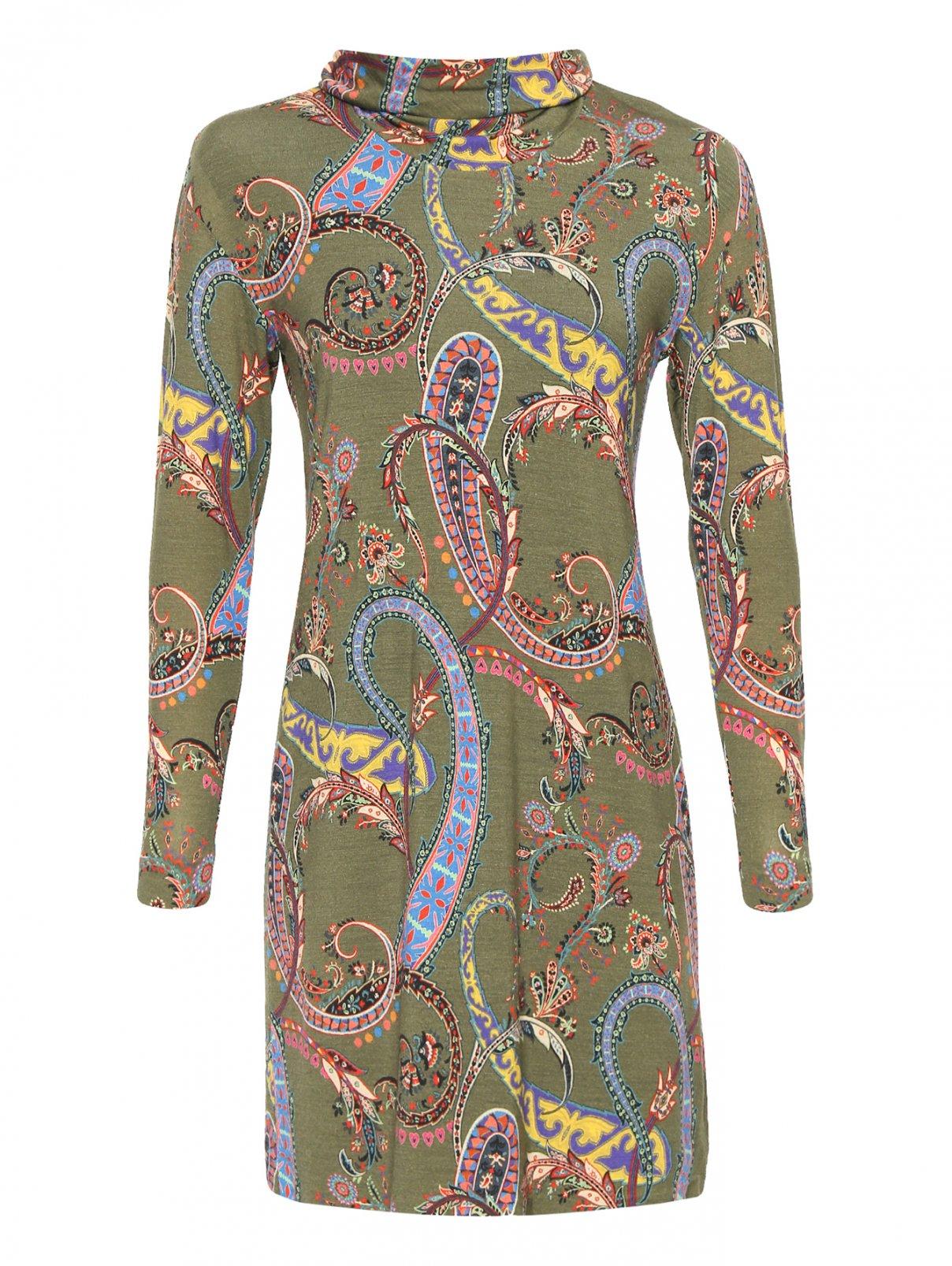 Платье из шерсти с узором Etro  –  Общий вид