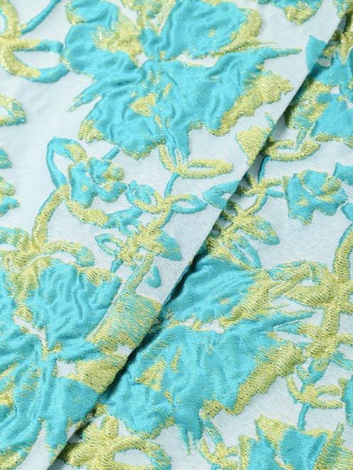Полупальто из фактурной ткани с узором - Деталь1