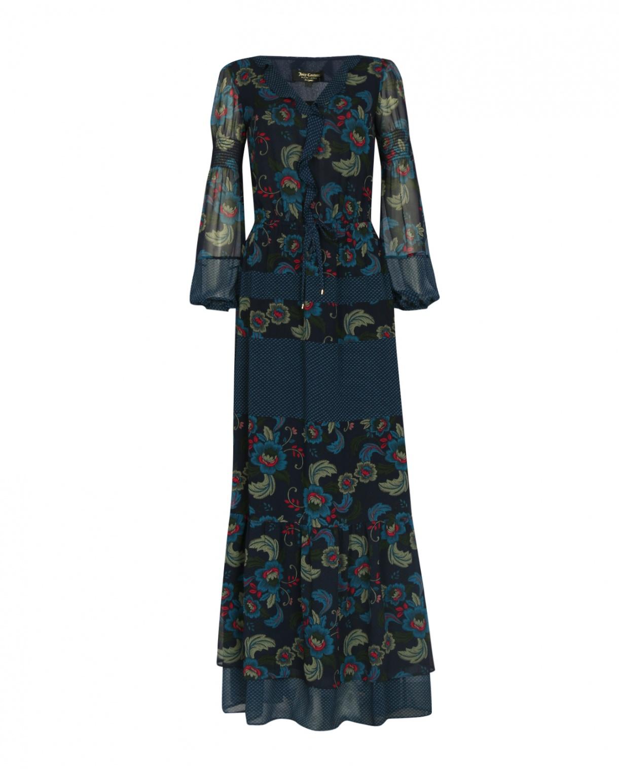 Платье-макси с цветочным узором Juicy Couture  –  Общий вид