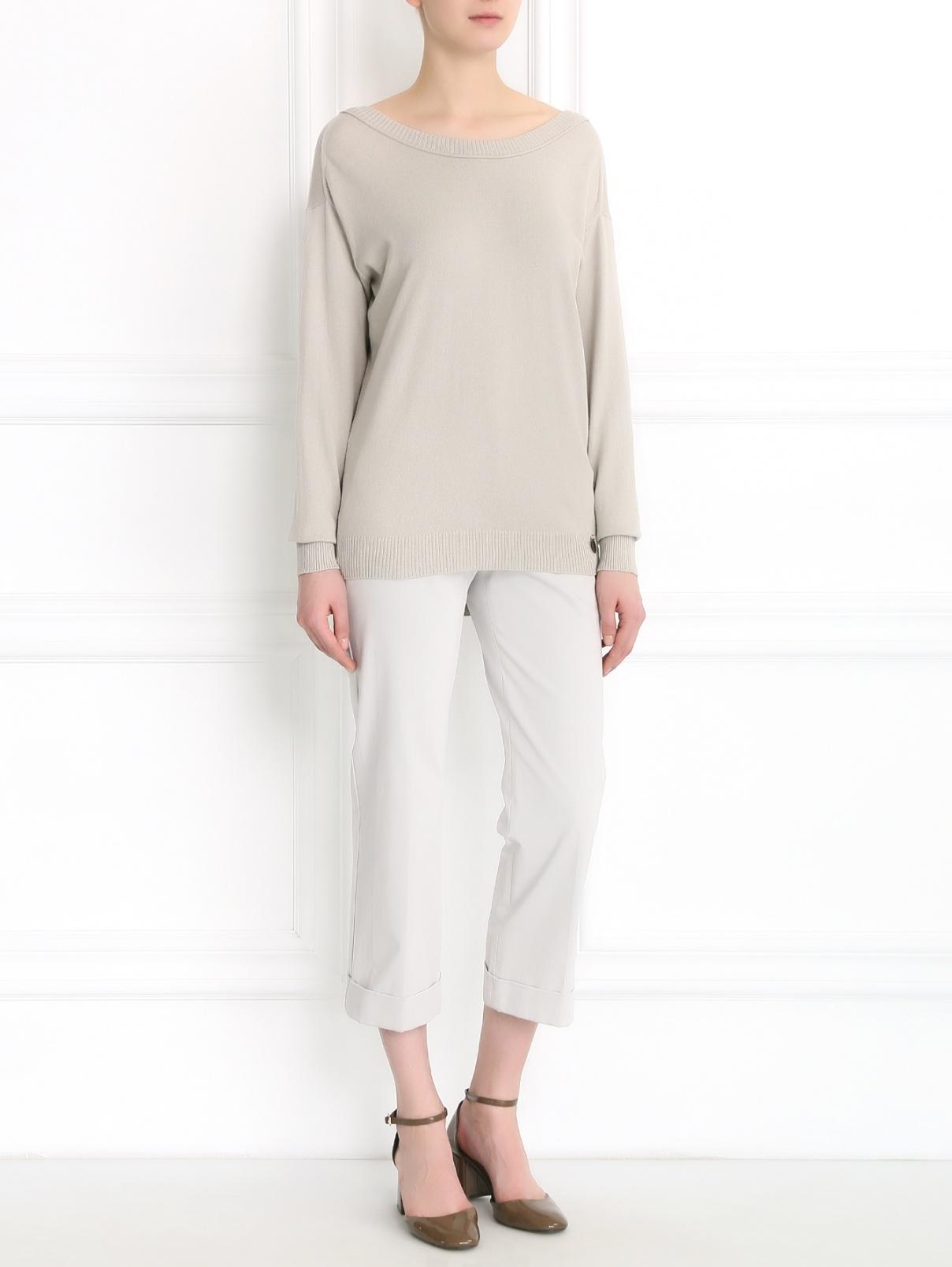 Укороченные брюки из хлопка Max Mara  –  Модель Общий вид