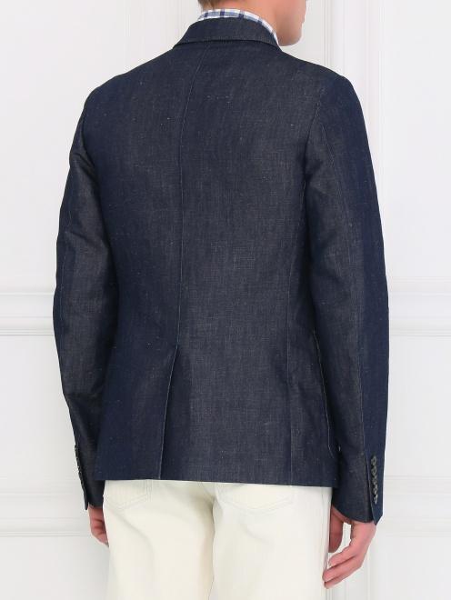 Пиджак однобортный из денима - Модель Верх-Низ1