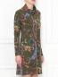 Платье из шерсти с узором Etro  –  МодельВерхНиз